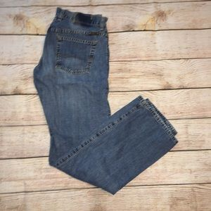 Lucky Button Fly Straight Leg Jeans